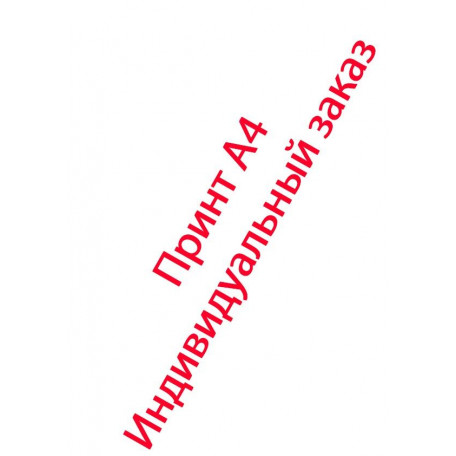 Принт А4 индивидуальный заказ