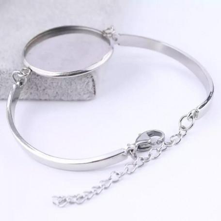 Основа для браслета цвет серебро