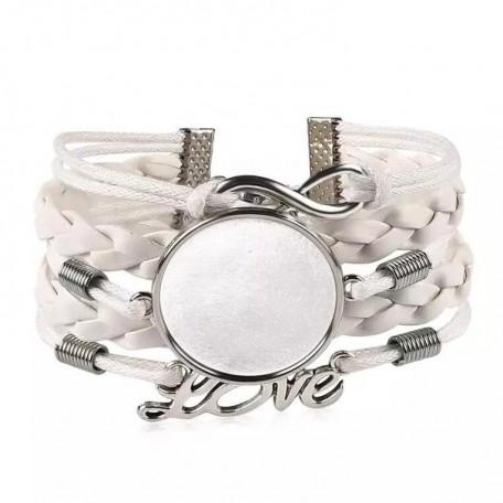 Основа для браслета цвет белый/серебро
