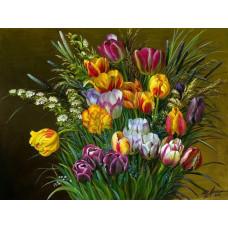 Принт А3 Букет тюльпанов
