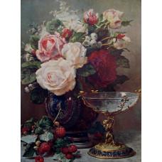 Принт А3 Букет роз в вазе