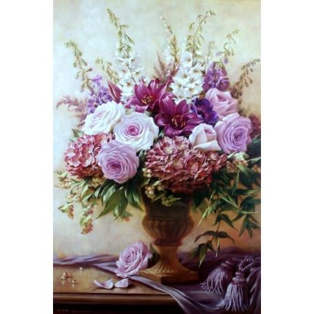 Принт А3 Букет розы лилии и гортензия