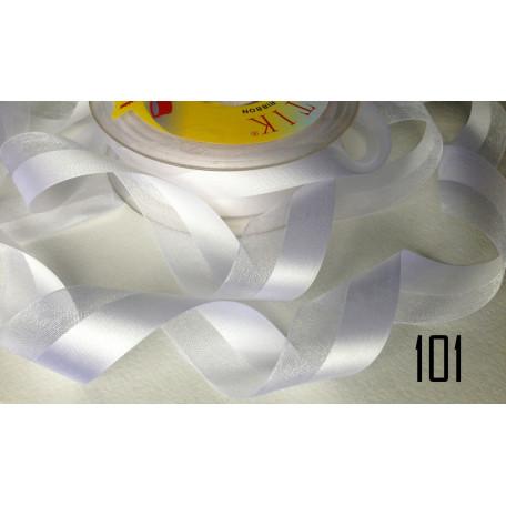 Лента органза-атлас 25мм 101