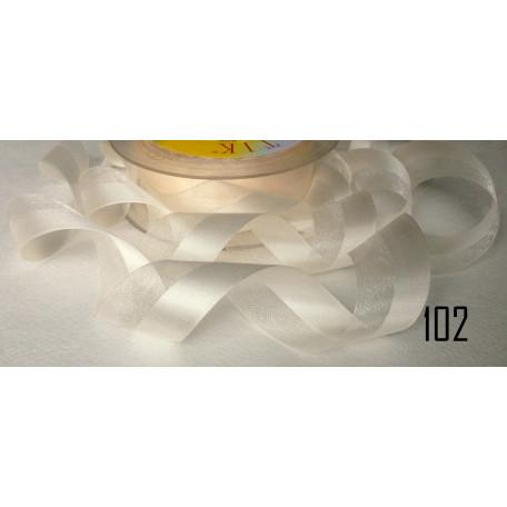 Лента органза-атлас 25мм 102