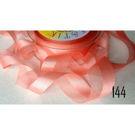 Лента органза-атлас 25мм 144