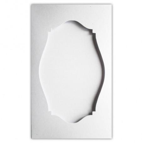 Открытка-паспарту Белая перламутровая