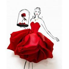 Принт А5 Девушка Роза