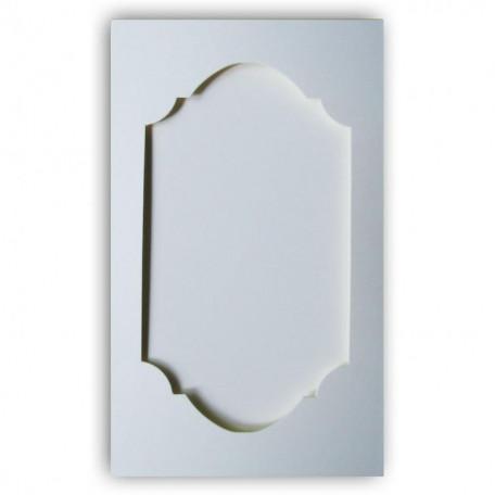 Открытка -паспарту Серебро перламутровая