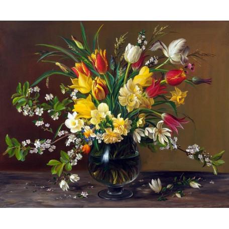 Принт  А3 тюльпаны и нарциссы