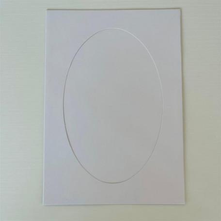 Открытка -паспарту Белая перламутровая