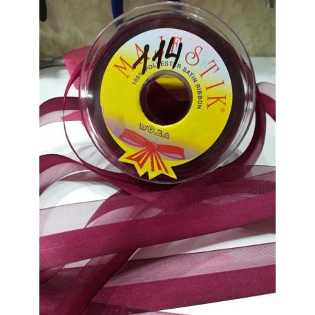 Лента органза-атлас 25мм №114