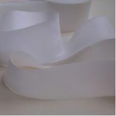 Лента шелковая кроенная по косой 13мм белая