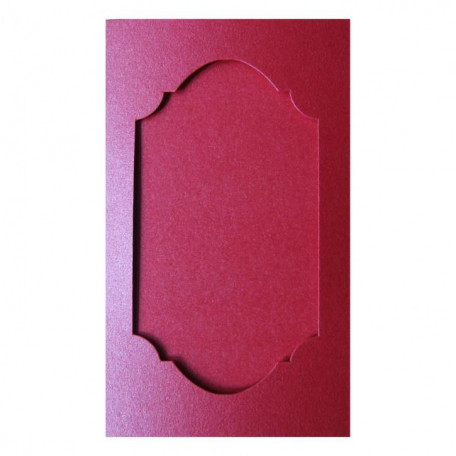 Открытка - паспарту красная перламутровая