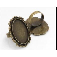Основа для кольца цвет бронза