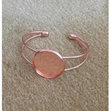 Основа для браслета цвет розовое зололто №104