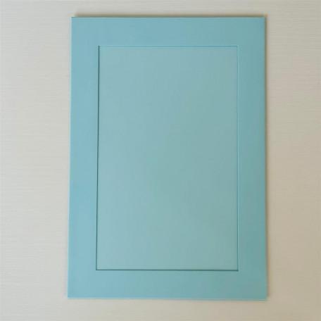 Открытка-паспарту . Цвет голубой матовый