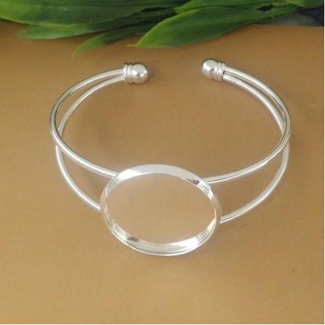 Основа для браслета цвет серебро №103