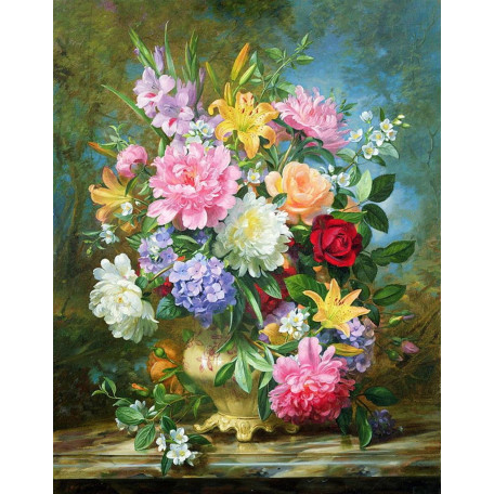 Принт А3 букет Пионы и лилии